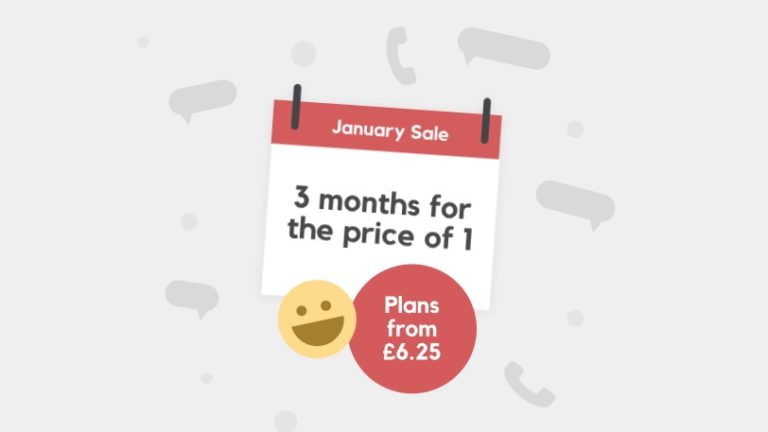 SIM only deal spectacular! Prices as low as £2.10 per month in Smarty's January Sale