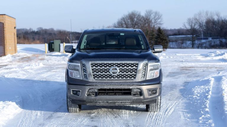The sensors in the Nissan Titan are obnoxious, but attention-getting