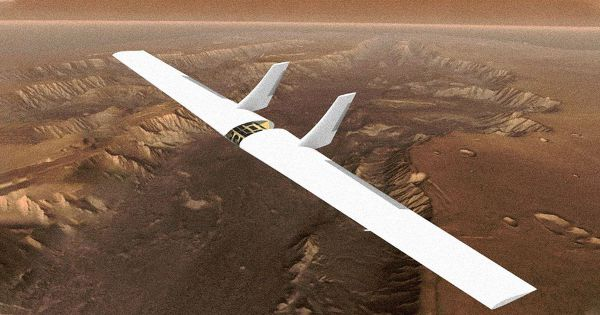 inflatable sailplane mars exploration