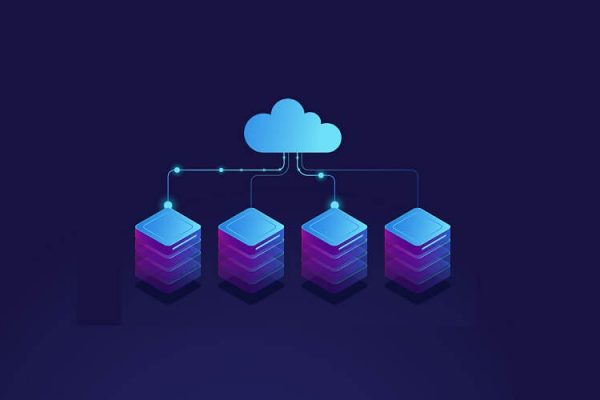 cloud hosting illustration