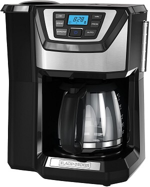 Best Coffee Maker With Grinder Under 100 Dollars - BLACK+DECKER 12-Cup Mill and Brew Coffeemaker